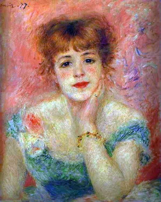 르누아르는 당시 유명한 여배우의 초상화를 그렸습니다.