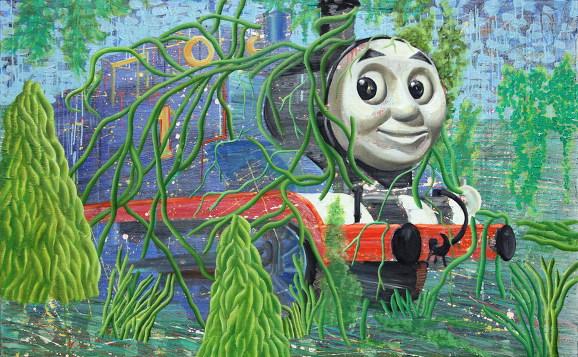 토마스의 숲-미노토르 90x145cm oil on canvas 2009_.jpg