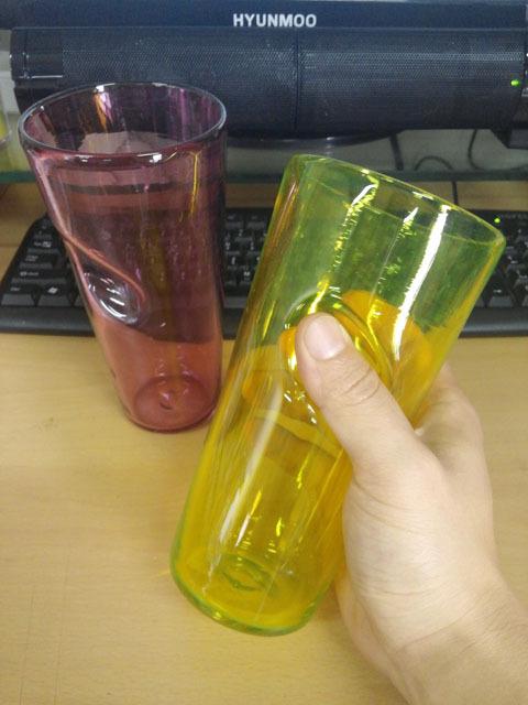 유리공예 아트 글라스 블로잉 컵