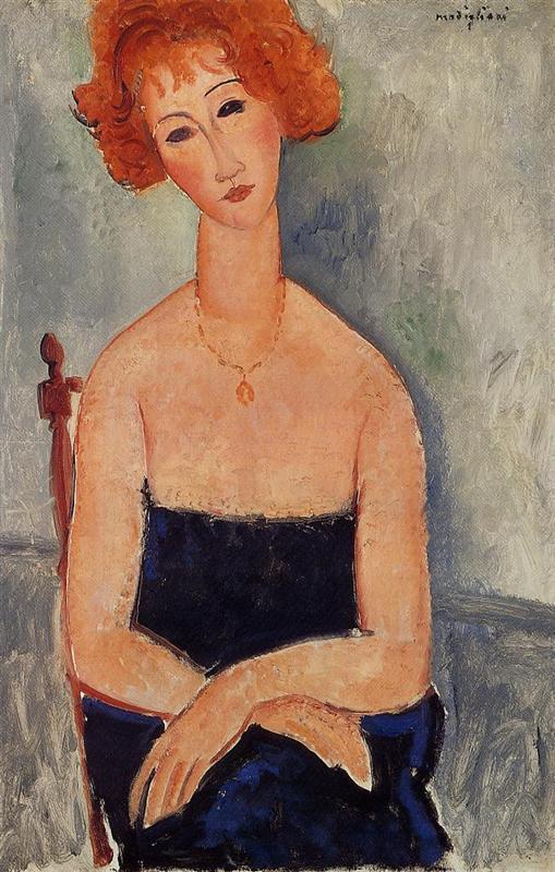 Amedeo Modigliani. Little Girl in Blue.