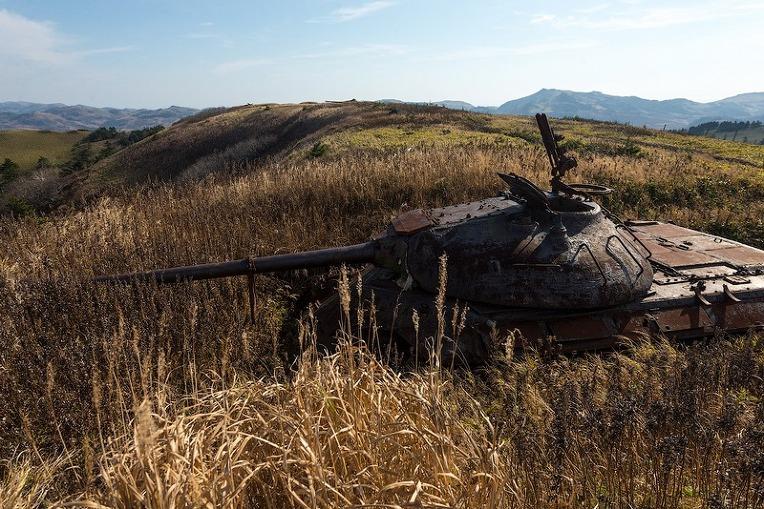 러시아 쿠릴 열도 시코탄 섬의 IS-2 중전차와 IS-3 중전차- Russia Kuril Island Shikotan coastal Artillery IS-2 & IS-3 Heavy Tank