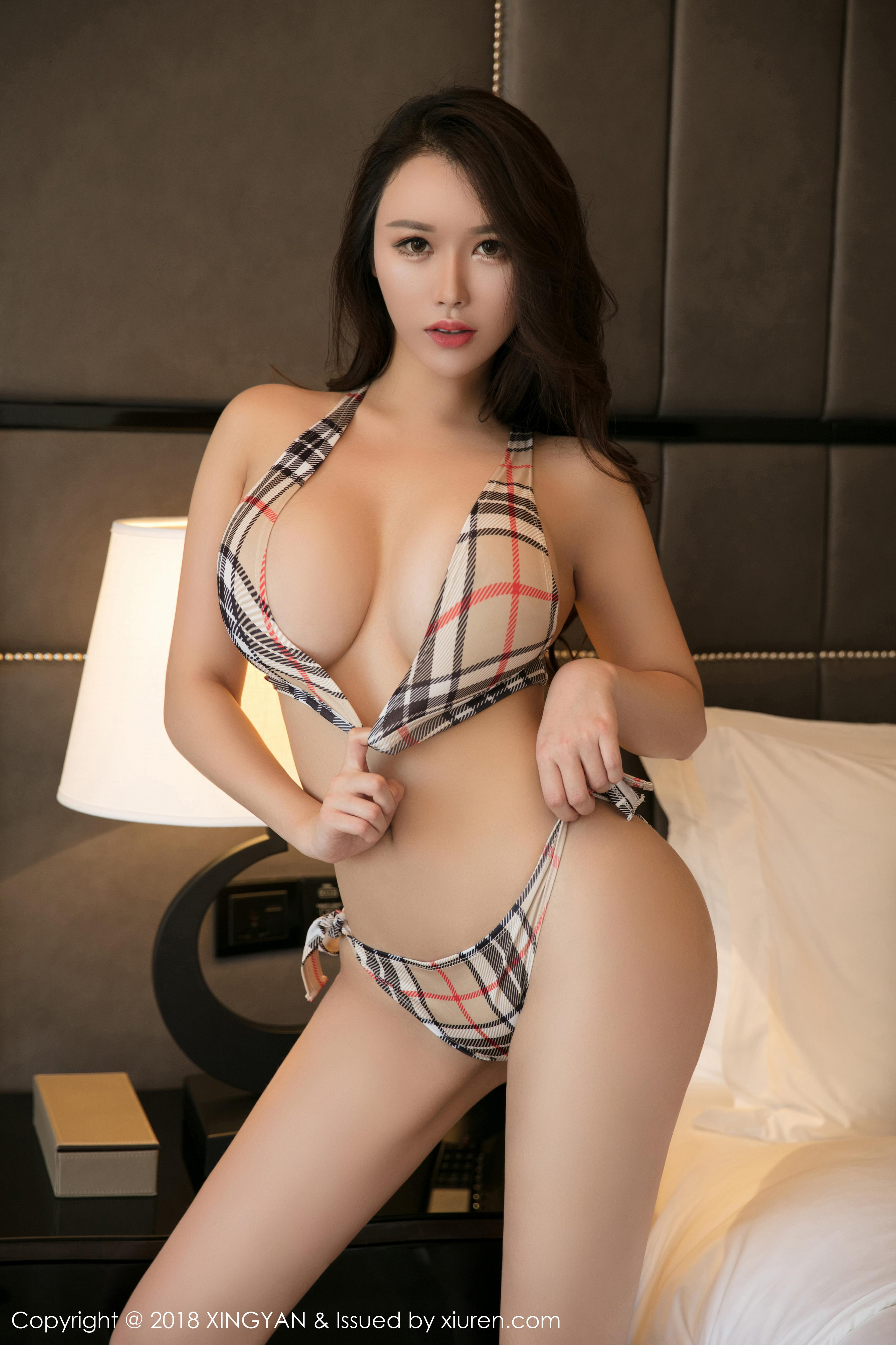 hot Chinese glamour in sexy wearing