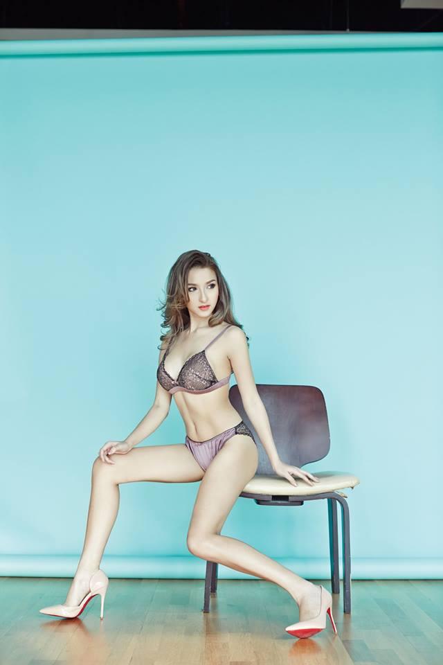 cool Asian girl in lingerie