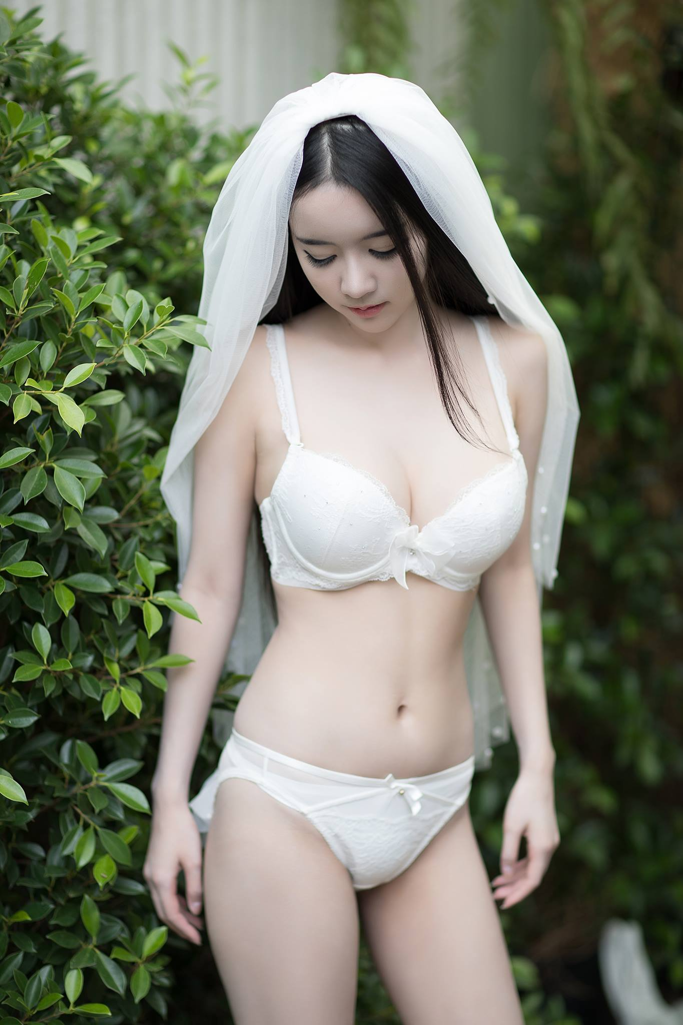 hot & pure lingerie wearing Asian girl